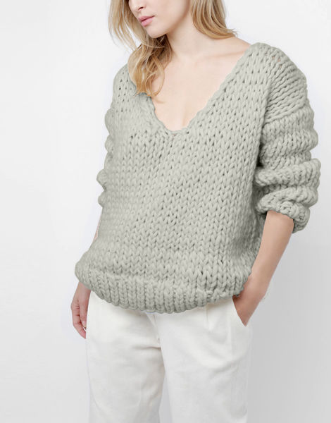 Way wool sweater csw rocky grey