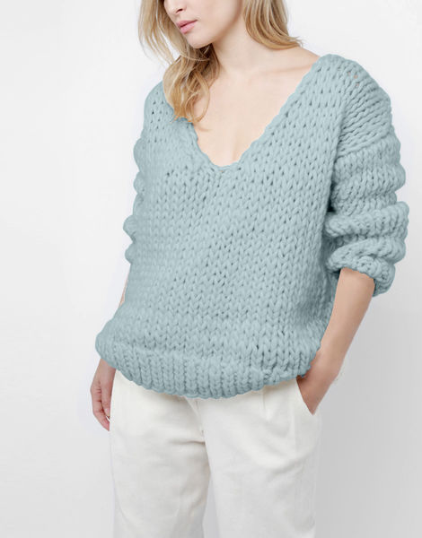 Way wool sweater csw duck egg blue
