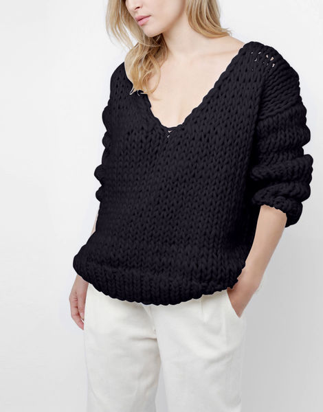 Way wool sweater csw midnight blue