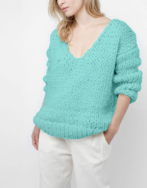 Way wool sweater csw magic mint