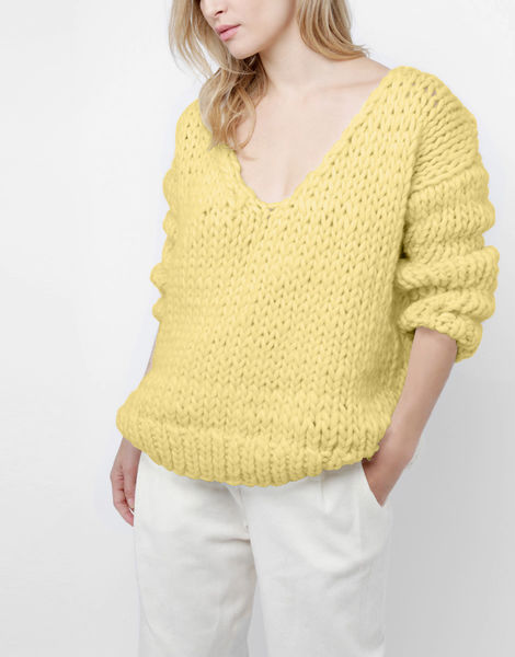 Way wool sweater csw chalk yellow