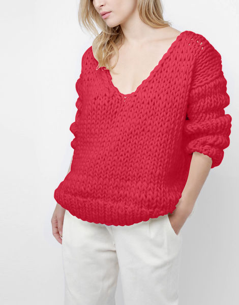 Way wool sweater csw candy red