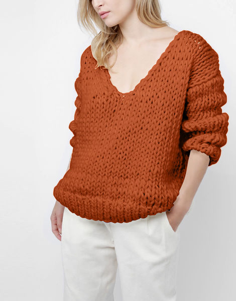 Way wool sweater csw cinnamon dust