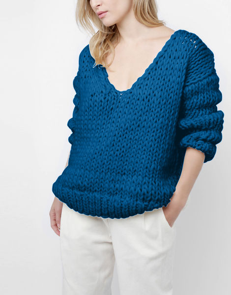 Way wool sweater csw sherpa blue