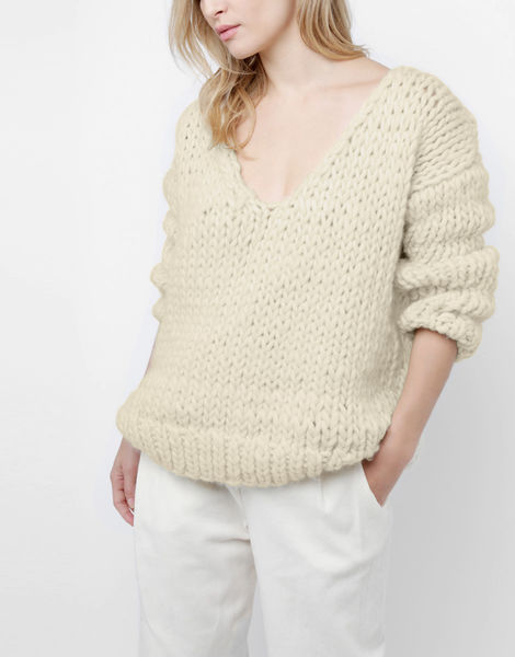 Way wool sweater csw ivory white