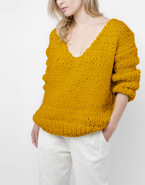 Way wool sweater csw mustard sally