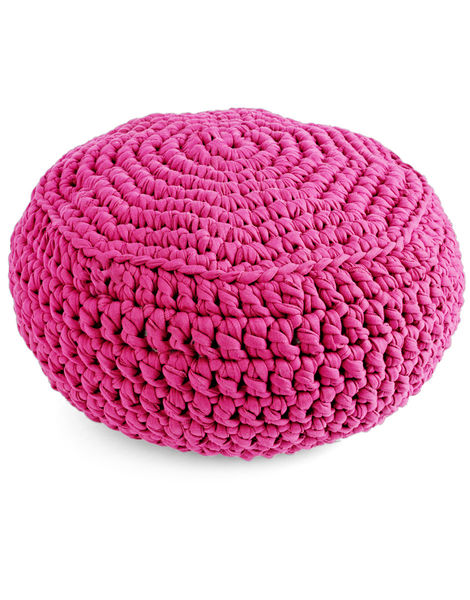 Pouf panther trueblue jbg hot pink