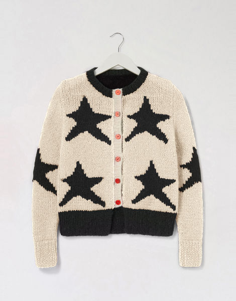 A star is born cardigan pink shc ivory white