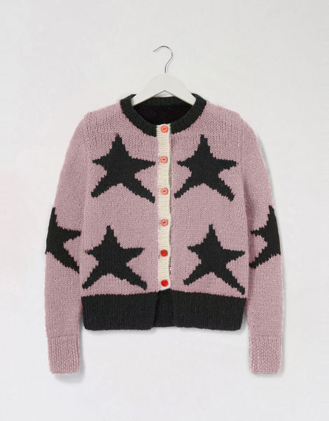 A star is born cardigan pink shc mellow mauve