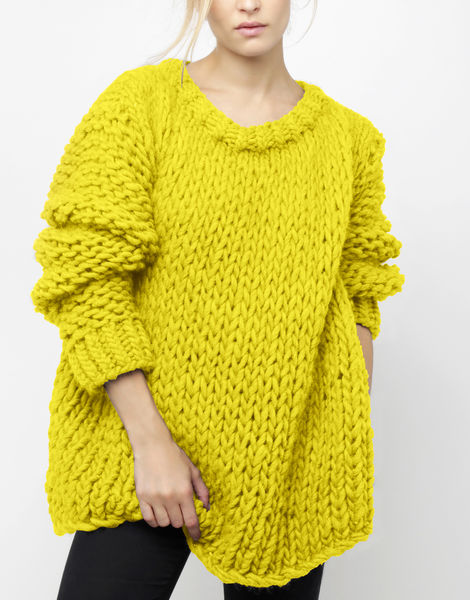 Wonderwool sweater csw big bird yellow