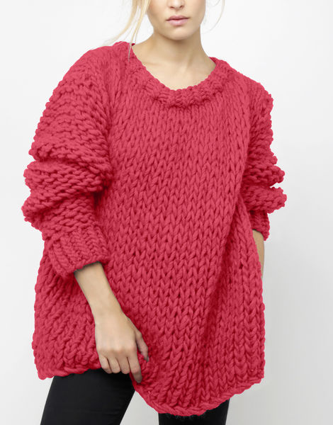 Wonderwool sweater csw candy red