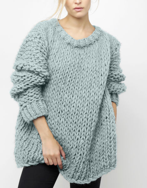 Wonderwool sweater csw duck egg blue