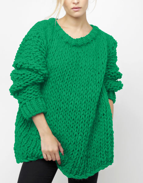 Wonderwool sweater csw emerald green