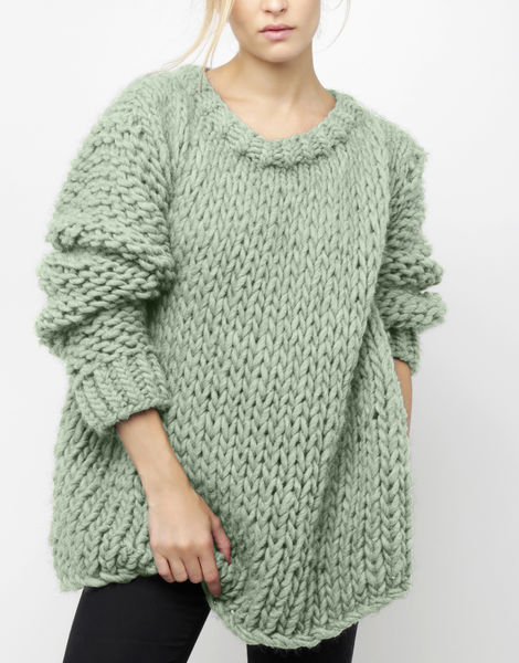 Wonderwool sweater csw eucalyptus green