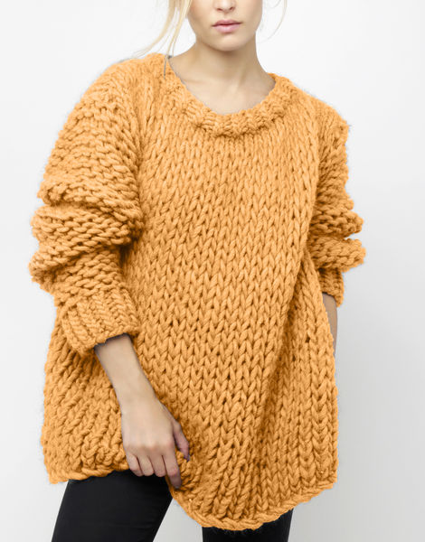 Wonderwool sweater csw fireball orange
