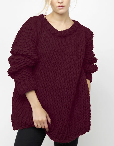 Wonderwool sweater csw margaux red