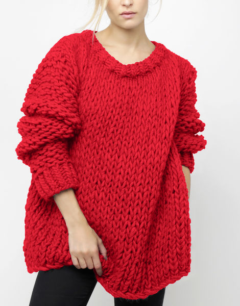 Wonderwool sweater csw lipstick red