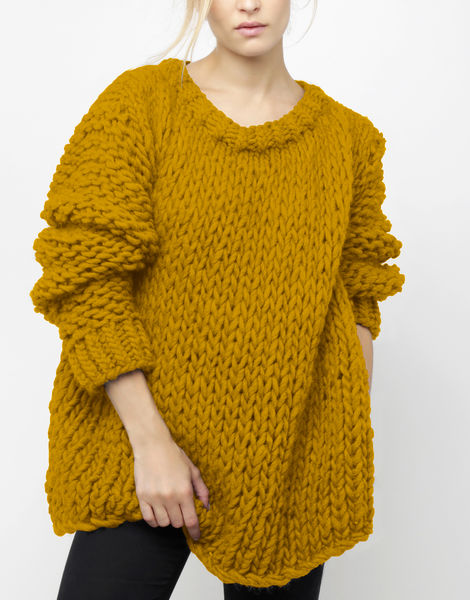 Wonderwool sweater csw mustard sally