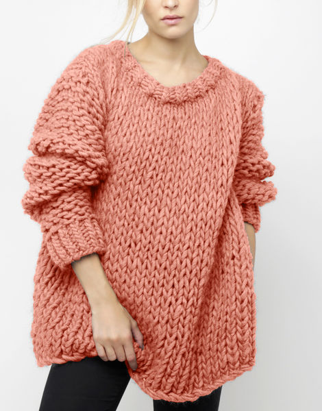 Wonderwool sweater csw pink sherbert