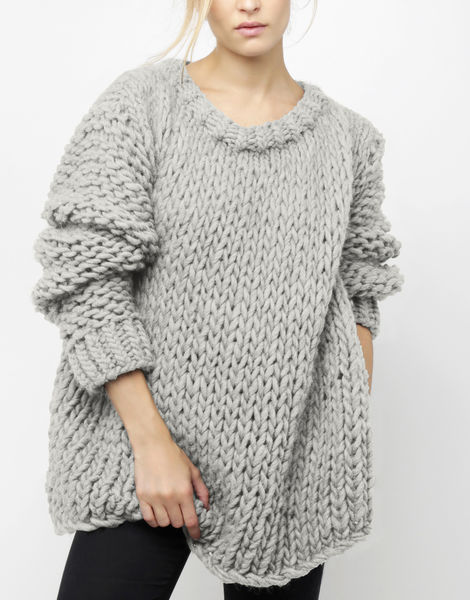 Wonderwool sweater csw rocky grey