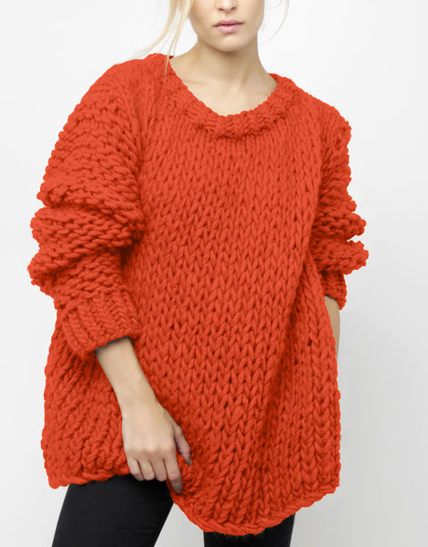Wonderwool sweater csw rusty orange