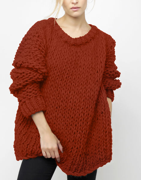 Wonderwool sweater csw red ochre