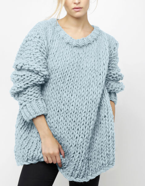 Wonderwool sweater csw stonewash blue