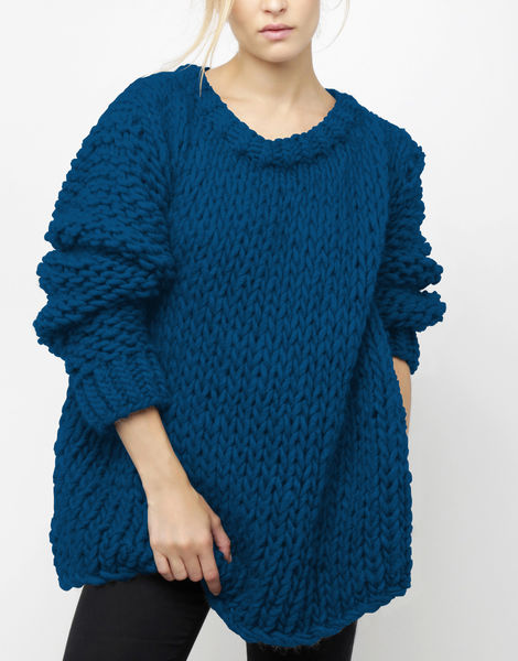 Wonderwool sweater csw sherpa blue