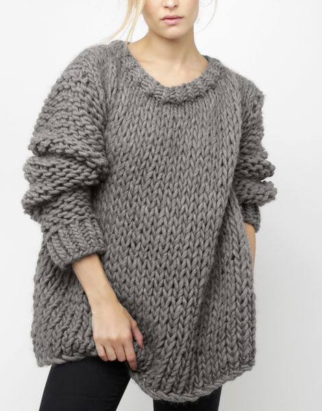 Wonderwool sweater csw tweed grey