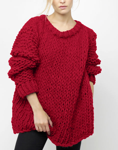 Wonderwool sweater csw true blood red