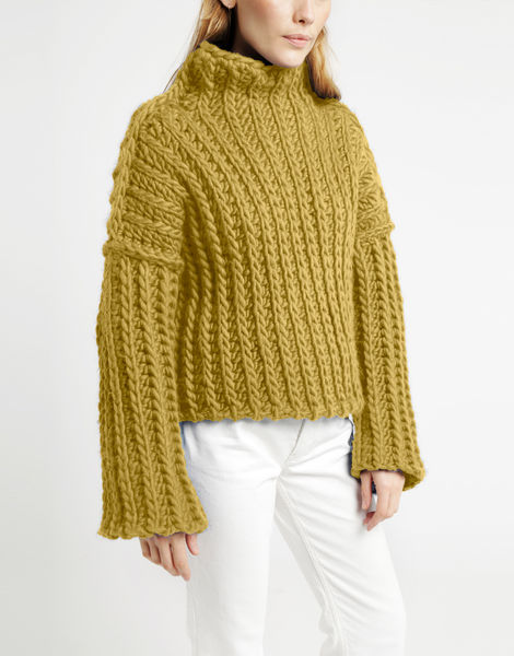 Heart of mine sweater csw chalk yellow