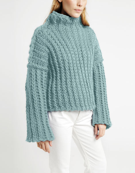 Heart of mine sweater csw duck egg blue