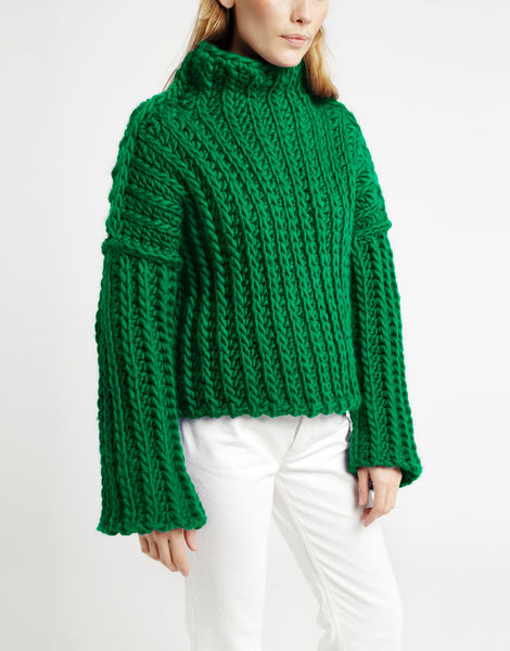 Heart of mine sweater csw emerald green