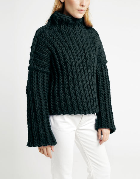 Heart of mine sweater csw forest green