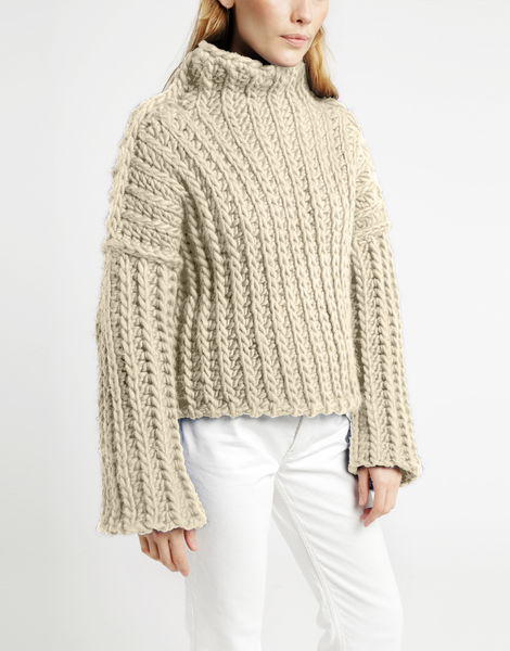 Heart of mine sweater csw ivory white