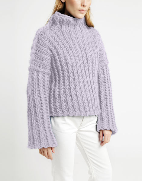 Heart of mine sweater csw lilac powder