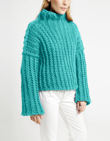 Heart of mine sweater csw magic mint