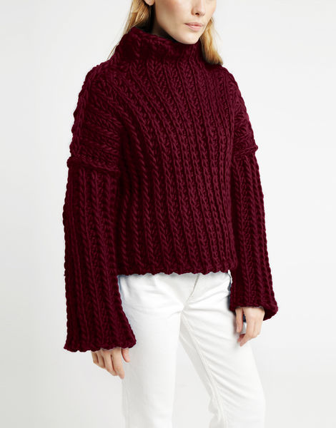Heart of mine sweater csw margaux red