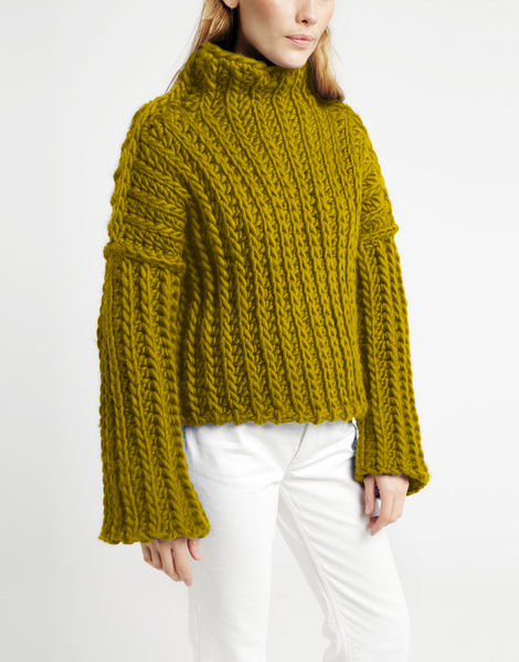 Heart of mine sweater csw moss green