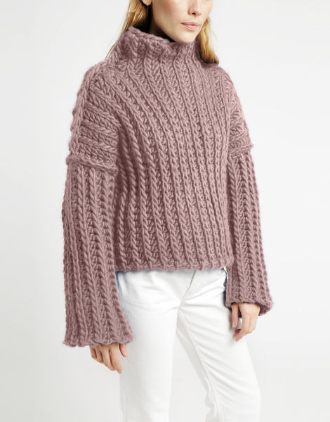 Heart of mine sweater csw mellow mauve