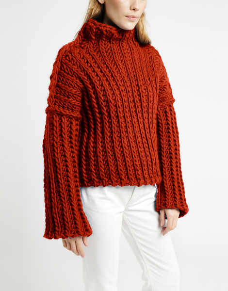 Heart of mine sweater csw red ochre
