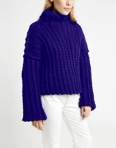 Heart of mine sweater csw ultra violet