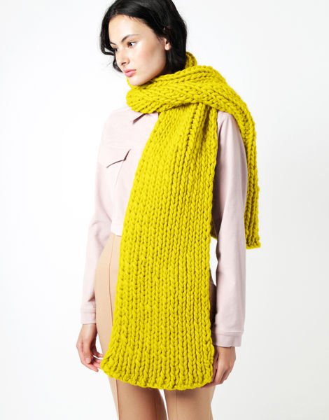 Maxi whistler scarf csw big bird yellow