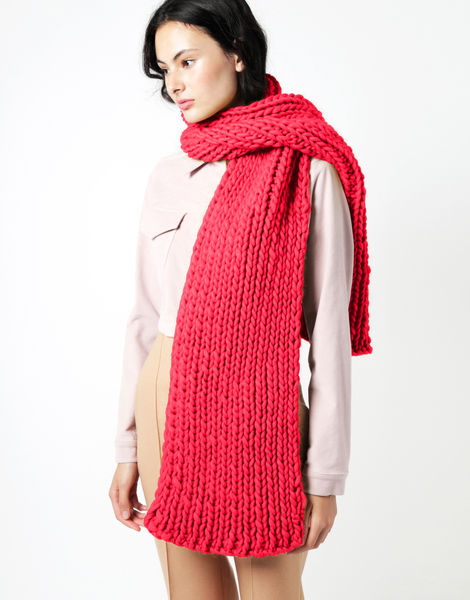 Maxi whistler scarf csw candy red