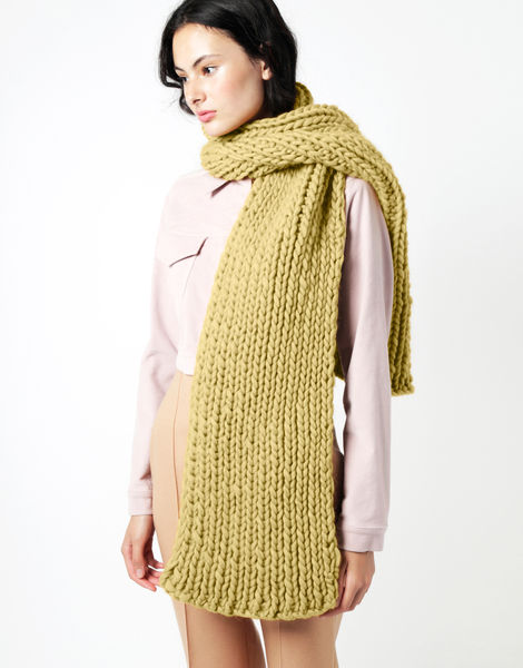 Maxi whistler scarf csw chalk yellow
