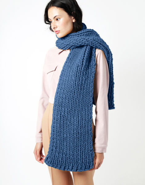 Maxi whistler scarf csw dusty denim