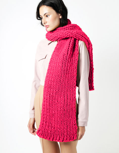 Maxi whistler scarf csw hot punk pink