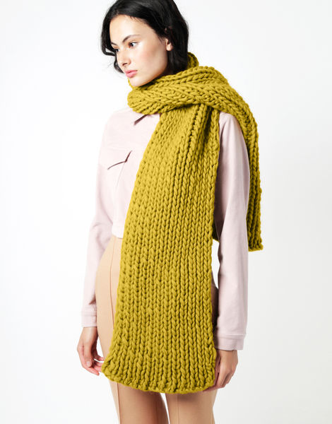Maxi whistler scarf csw moss green