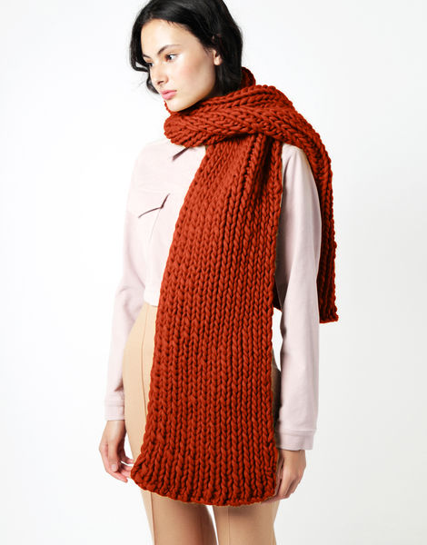 Maxi whistler scarf csw red ochre