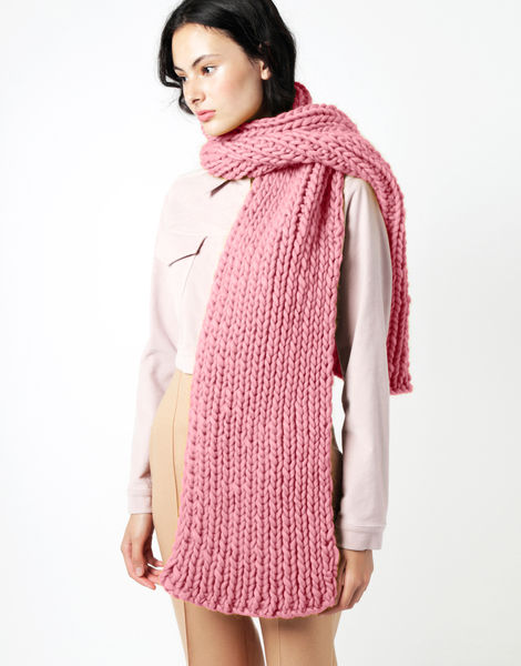 Maxi whistler scarf csw pink lemonade